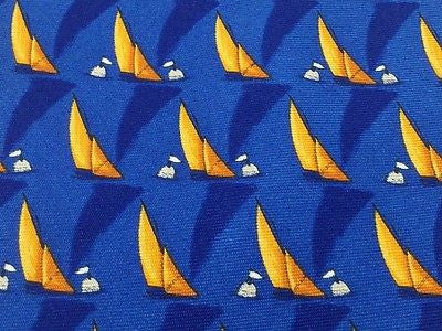 Novelty Tie Gard Sails On Blue Silk Men Necktie 42