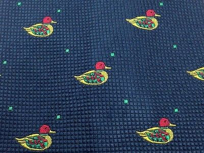 Animal Tie Duck Bird on Blue Silk Men Necktie 50