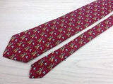 Novelty Tie Gentlemens Club Polo Sport on Scarlett Red Silk Men Necktie 47