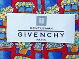 Floral TIE Flower Pot GIVENCHY Made in ITALY Silk Men Necktie 9