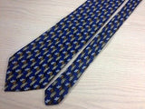 ALLEA Silk Tie - Expressly for NORDSTROM - Navy with Gold & Brown Pattern 37
