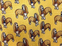 Guilty Dogs Animal Repeat Novelty Silk Men Necktie 17