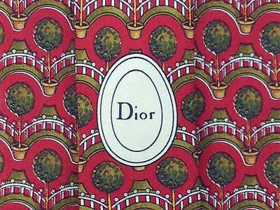 Floral TIE Tree Flower in Pot DIOR VINTAGE Made in FRANCE Necktie 8