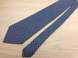 Designer Tie Verugia Blue Circle & Yellow Boxes on Blue Silk Men Necktie 47