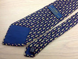 Animal Tie Bunny repeat on deep blue Silk Men Necktie 50