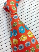 GAP FLORAL SPRING COLORFUL TIE MADE IN USA 100% SILK MEN NECKTIE