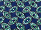 Designer Tie Pierre Balmain Classic Green Design on Blue Silk Men NeckTie 49