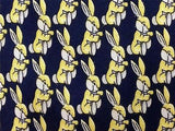 Bunny Rabbit TIE Small Repeat Animal Novelty Silk Men Necktie 17