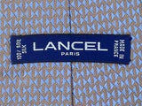 Lancel Paris TIE ZigZag Geometric Repeat Blue & Gray Silk Necktie 19