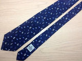 Animal Print TIE zodiac signs Blue on Blue Silk Men Necktie 25