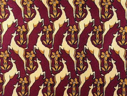 Biagiotti Deer & Tree TIE Repeat Animal Novelty Silk Men Necktie 18