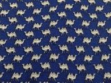 Animal Tie Kiros Perperual Camels on Indigo Silk Men Necktie 47