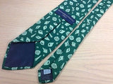 ABERCROMBIE & FITCH Silk Tie - Green with Sea Foam Shell Design Pattern 36