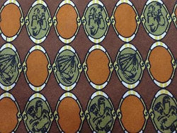 Geometric TIE Alviero Martini Brown Circle Silk Men Necktie 23