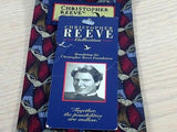 CHRISTOPHER REEVE Collection Silk Tie - Burgundy, Blue & Brown Writing Motif 37