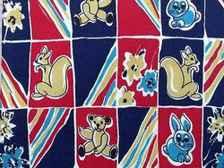 Animal Print TIE Squirrel Bunny Check ITALY Silk Men Necktie 10