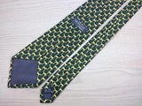 Animal Print TIE Horse repeat on Green Made in England Necktie 7