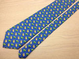 Animal Print TIE Colorful PANDA on Blue  Silk Men Necktie 21