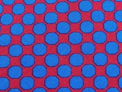 Designer Tie Rocco Barocco Blue Dots on Dark Pink Silk Men NeckTie 49