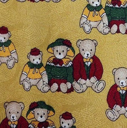 TEDDY BEAR SUNDAY OUTFIT CHURCH ANIMAL ITALY TIE 100% SILK MEN NECKTIE