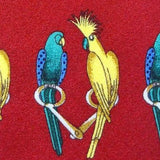 EXOTIC BIRDS PARROT COLORFUL ANIMAL NOVELTY REPEAT SILK MEN NECK TIE 16