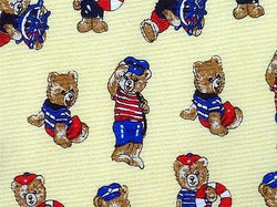 Vintage Teddy Bear TIE Nautical Marine Novelty Theme Repeat Silk Necktie 2