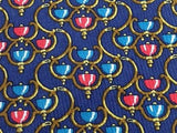Novelty Tie S.T Dupont Chandeleirs On Blue Silk Men Necktie 43