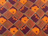 Novelty Tie Ungaro Orange Flowers On Check Mutli Color Silk Men Necktie 31