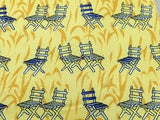 Novelty Tie Paolo Borghesi Lawn Chairs on Yellow Silk Men Necktie 45