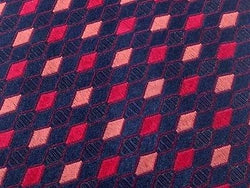 Designer Tie Paul Smith Classic Pattern on Dark Grey Silk Men NeckTie 46