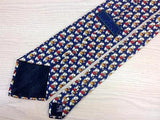 Umberto Scolari TIE Teddy Bear on Blue Theme Novelty Repeat Silk Necktie 4