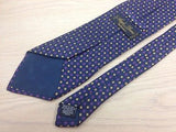 Designer Tie Angelo Bosani Brown-Blue Designs on Navy Blue Silk Men Necktie 48