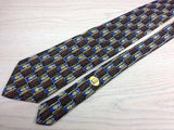 Novelty Tie Dunhill Horse And Crown Pattern On Check Silk Men Necktie 43