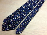 CAMPIA Silk Tie - Navy with Multi-Colored Cocktails Pattern 35