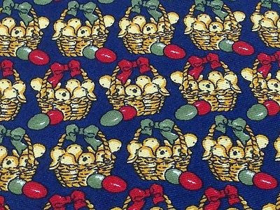 Animal Tie Butti Bucket Of Chicks On Dark Blue Silk Men Necktie 43