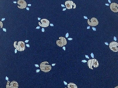 Novelty Tie Ferre Fruit & Leaves on Denim Blue Silk Men Necktie 47