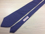 SCHERRER Paris Silk Tie - Navy with Small Tulip Pattern 41
