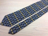 Designer Tie Carnaval De Venise Classic Pattern on Blue Silk Men NeckTie 49