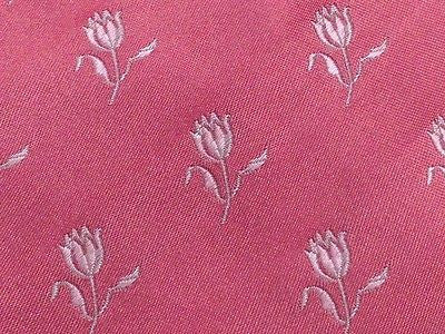 Novelty Tie Dunhill Perpetual White Flower on Flamengo Pink Silk Men Necktie 48