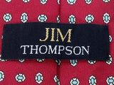 Geometric TIE JIM THOMPSON Snowflake Polka Dot RED Silk Men Necktie 22