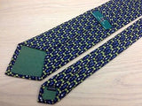 Novelty Tie Zadi Green Garlic & Shovel Gardening on Blue Silk Men Necktie 45