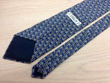Designer Tie Stella Belt & Buckles on Navy Blue Silk Men Necktie 32