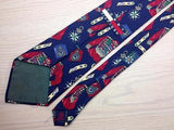 Novelty TIE Tommy HILFIGER Veterant Medal Army Made in USA Silk Necktie 10