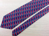 Fumagallis TIE Whale & Rope Nautical Animal Novelty Theme Repeat Silk Necktie 2