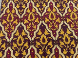 Designer Tie Lancel Yellow Design On Maroon Silk Men Necktie 31