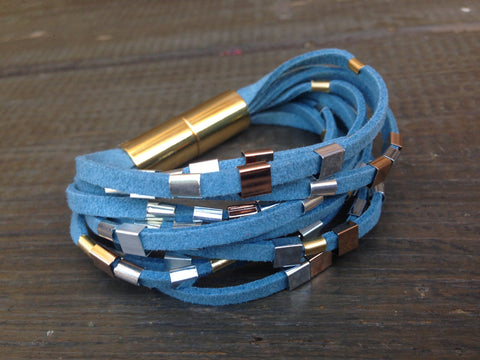 Gold & Silver String braceletet