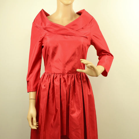 Satin 80's Party Dress