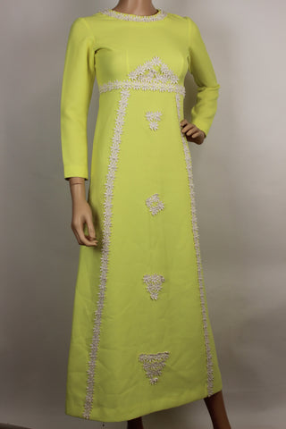 Yellow 1960s Maxi dress