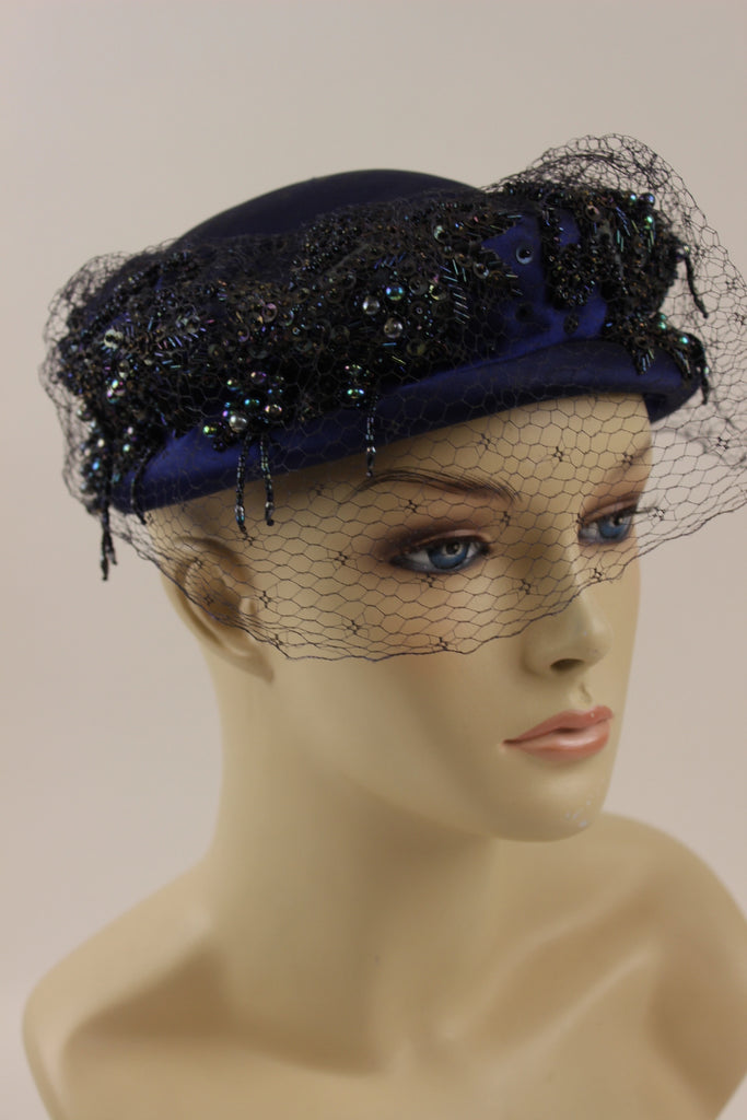 Blue Sequinned Hat