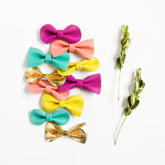 Leather Hair Bows // The Leather Shed Blog